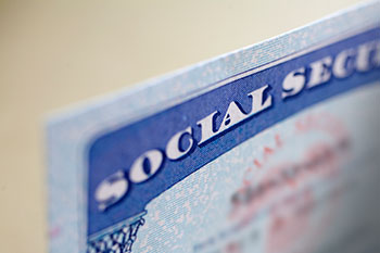 Close up of a Social Security card